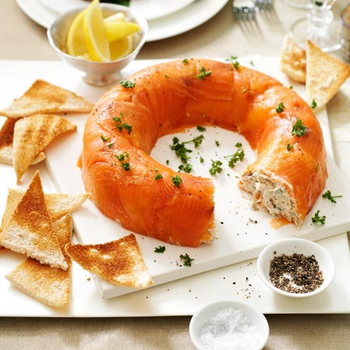 Smoked salmon and mackerel mousse good housekeeping for Best starter fish