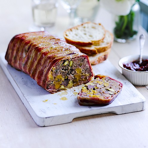 Pork and apricot terrine with sourdough terrine recipe for Chicken and pork terrine with pistachio