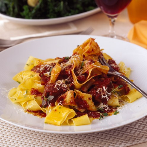 Slow-cooked duck ragù with pappardelle - Good Housekeeping
