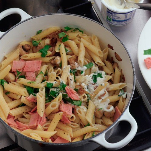 Ham and mushroom pasta - Good Housekeeping
