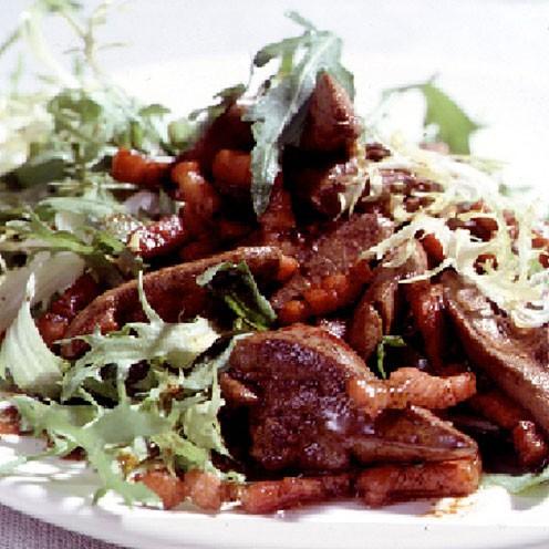 Chicken Liver Salad Balsamic Vinegar Warm Chicken Liver Salad