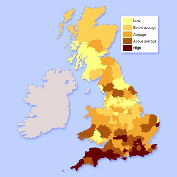 Where is the most affordable place to live in the uk Good house map