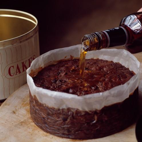 Dark Chocolate Rum Raisin Cake